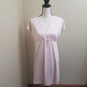 Jones New York Pastel Pink Tee Shirt Dress Large
